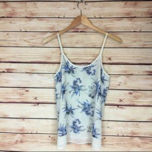 Daniel Rainn Floral Camisole Cream Blue Sleeveless